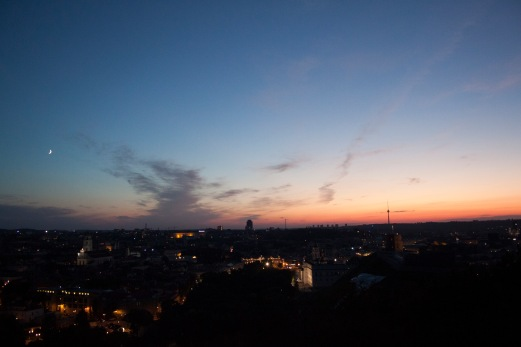 Sonnenuntergang über Vilnius